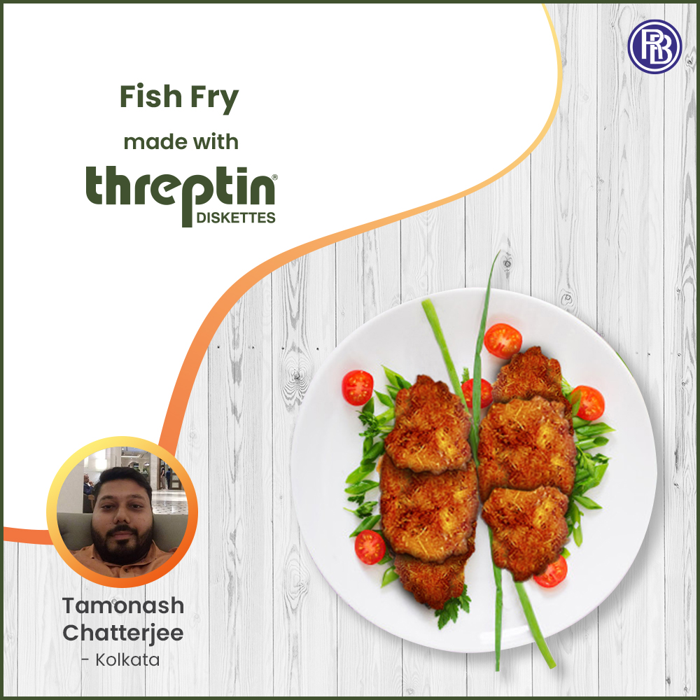 Fish Fry made with Threptin Diskettes